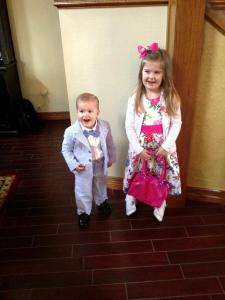 Claire and Cam, Easter Sunday Morning