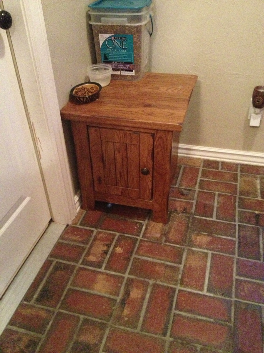 Cat Litter Box Cover From An Old End Table The
