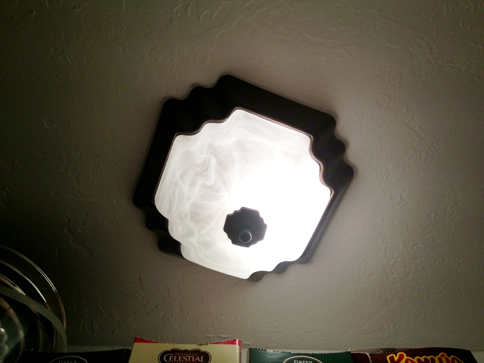 but really my favorite kind of light fixture update is to paint is a. Black Bedroom Furniture Sets. Home Design Ideas
